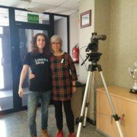 Visitando los estudios de Ribera Televisió