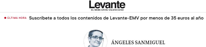 """Periódico """"El Levante"""" Exhibición por el mes de la mujer UV artículo de opinión"""